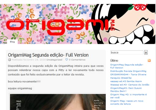 Blog da revista Origami