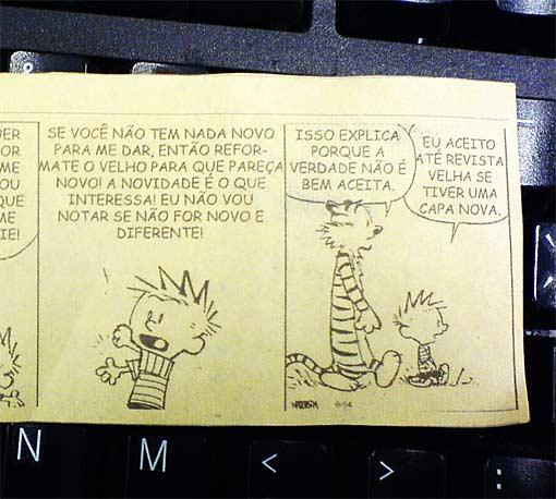 Calvin e a novidade